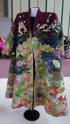 """Once in a Blue Moon"" coat by Marijke van Weltzen (The Netherlands).  2014 Festival of Quilts IV, photo by Kameleon"