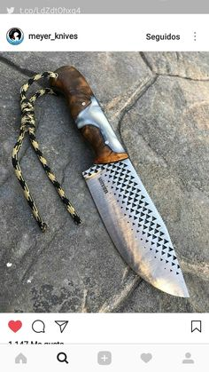 knife making essential tools Knives And Tools, Knives And Swords, Forging Knives, Knife Making Tools, Hand Forged Knife, Trench Knife, Diy Knife, Homemade Weapons, Hard Metal