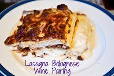 Lasagna Bolognese #wine pairing