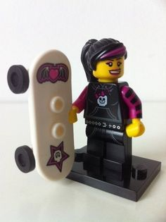 Lego Minifigure Series 6 Skater Girl With Leaflet And Packet | eBay