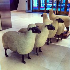 A herd of Lalanne sheep @ Christies - @james_andrew- #webstagram