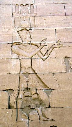 Augustus in an Egyptian-style depiction, a stone carving of the Kalabsha Temple in Nubia.
