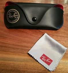 ray ban laramie sunglasses black blue orange  ray ban sunglasses eyeglasses case pouch black (empty) & cleaning wipe cloth new #