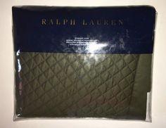 RALPH LAUREN Wyatt STANDARD SHAM Frazier TWEED Green COTTON Langdon NEW $130 #RalphLauren