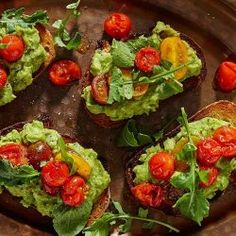 Avocado Toast with Arugula and Cherry Tomato Salsa Recipe 2 avocados (ripe avocados, halved, peeled and pitted)¼ cup Hidden Valley® Original Ranch® Dressing ( Cherry Tomato Salsa, Tomato Salsa Recipe, Cherry Tomatoes, Ripe Avocado, Avocado Toast, Roasted Potato Recipes, Roasted Potatoes, Chicken Bacon Ranch Pasta, Ranch Recipe