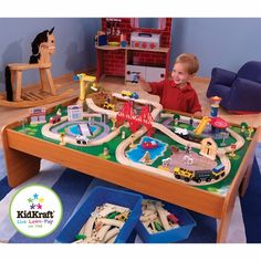 Toy Train - Kid Kraft Waterfall Mountain Train Set and Table From ...