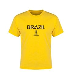 Brazil 2018 FIFA World Cup Russia™ Youth T-Shirt (Yellow)
