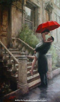 """IT POURED RAIN AND THEY BOTH GOT WET………HOWEVER, SHE BECAME ENGAGED TONIGHT - SO, AS FAR AS SHE WAS CONCERNED -- IT WAS A """"MOST BEAUTIFUL DAY""""�"""