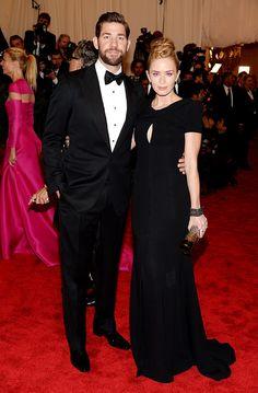 I love Emily... Met Gala alfombra roja Punk Chaos to Couture - John Krasinski y Emily Blunt