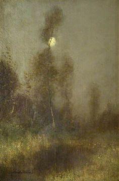 Robert Macaulay Stevenson (Scottish, 1854-1952), Moonlit Landscape. Oil on canvas. Glasgow Museums.