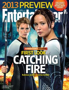 Entertainment Weekly gives you a first look at their cover for this week. It's started. Catching Fire is on it's way.