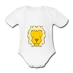 Le roi Léo le lion rugit sur le body de bébé /  The king Leo the lion roars on baby'sbodyshirt