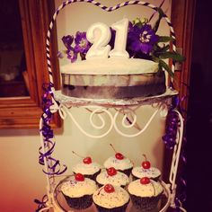 Cake on stand
