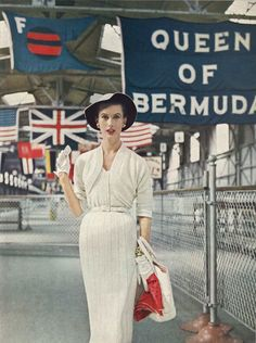 Queen of Bermuda • 1950s Wedding Bridal Knitting Bolero Cardigan Dress • 50s Vintage Vogue Pattern • 1954 Retro Women's Knit Digital PDF by TheStarShop on Etsy