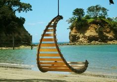 Cozy Hanging Chair Design Ideas For Outdoor Hammock Swing, Hammock Chair, Swinging Chair, Diy Chair, Chair And Ottoman, Hammocks, Upholstered Chairs, Chair Cushions, Wooden Hammock