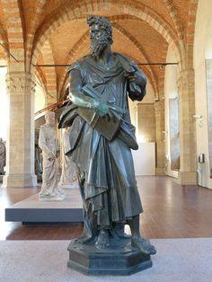 Orsanmichele Chiesa e Museo - Firenze - (Corporazione dei magistrati e Notai),  san Luca del Giambologna - 1601