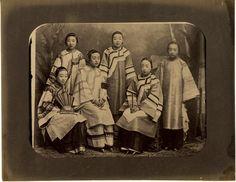 c.1880's PHOTO CHINA : GROUP OF CHINESE GIRLS