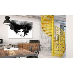 Retrato en blanco y negro será una perfecta decoración moderna - por ejemplo de un interior industrial #retrato ##impresion #cuadro #artgeist #blancoynegro #blackwhite #cuadroblancoynegro