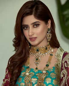 Sajal Ali is the charming Pakistani actress. Here we have some beautiful clicks of Sajal Ali from recent photoshoot for Haroon Sharif Jewellers. Have a look on the amazing clicks of charming Sajal Ali from recent photoshoot; Pakistani Bridal Jewelry, Pakistani Wedding Outfits, Pakistani Girl, Pakistani Actress, Pakistani Dresses, Bridal Jewellery, Pakistani Makeup, Shadi Dresses, Punjabi Girls