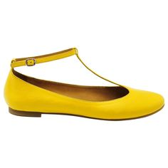 See by Chloe T-Bar Ballerina Pumps, in Yellow £185