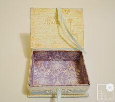 Graphic 45 Secret Garden Shabby Chic Keepsake Box & Mini Album By The Happy Yellow Trading Co. | The Happy Yellow Trading Co.
