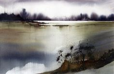 Art Of Watercolor: Helga Berger, Austria Art Painting, Landscape Paintings, Winter Landscape, Painting, Art, Seascape, Watercolor Landscape, Abstract Watercolor, Landscape Art