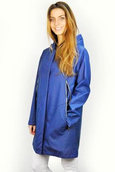 Shop our full selection of raincoats! SHOP NOW! French Brands, Karma, Shop Now, Raincoat, Stylish, Jackets, Blue, Shopping, Collection