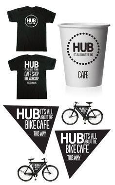 HUB Cycle cafe. by Paul Robson, via Behance