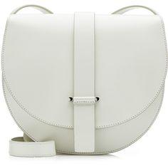 Jil Sander Robin Leather Shoulder Bag ($600) ❤ liked on Polyvore featuring bags, handbags, shoulder bags, white, women, white shoulder bag, leather purse, real leather purses, real leather handbags and genuine leather purse
