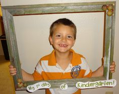 My 1st Day of Kindergarten frame