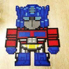 Optimus Prime hama beads by  fandelbit