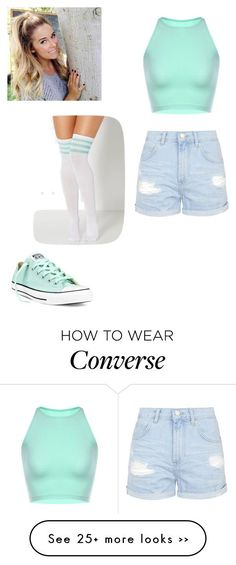 """Untitled #178"" by jasmine-rlrh on Polyvore featuring Topshop and Converse"