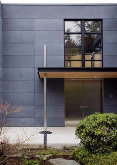 fiber cement panels Exterior Contemporary with Cembonit siding cement board siding dark cement paneling downspout House Cladding, Exterior Cladding, House Siding, Facade House, Rainscreen Cladding, Steel Cladding, Cement Board Siding, Fiber Cement Board, Fiber Cement Siding