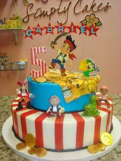 ★ Torta - Cumple Jake, El Pirata ★  www.unabuenafiesta.com.ar