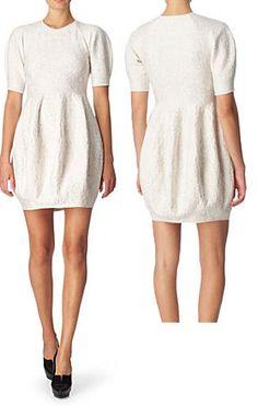 Alexander McQueen Knitted Textured Dress