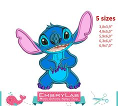 50% Off. ONLY THIS WEEKEND. Applique Stitch. Lilo & Stitch. Machine Embroidery Applique Design. Instant Digital Download (16281) by EmbryLab on Etsy
