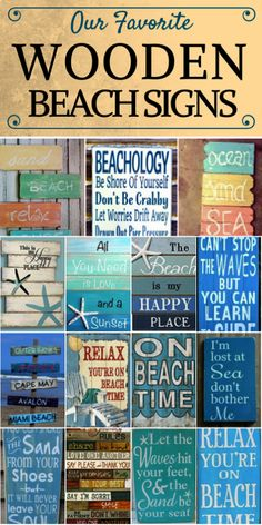 Discover the absolute best wooden beach signs you can get for your beach home. We have a huge variety of tropical, ocean, beachy, and coastal wooden signs. Beach Cottage Style, Coastal Style, Coastal Decor, Coastal Furniture, Cottage Chic, Tropical Home Decor, Tropical Houses, Beach Wall Decor, Beach House Decor