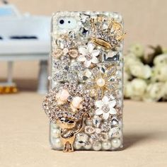ok this is pretty sweet too- Apple iPhone 4S 4G 3GS iPod Touch Cat Flowers Crown Back Case