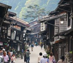 Kiso Valley Travel: Narai, one of several towns on the Nakasendo highway