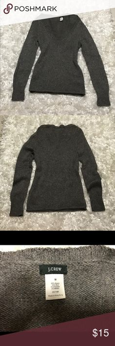 J.Crew Women's Sweater J.Crew V-Neck Gray Women's Sweater. Worn and in good condition. No signs of wear. Size Medium J. Crew Sweaters V-Necks
