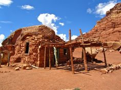 Cliffdwellers, Arizona...the site of a modern woman's stone house
