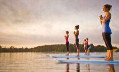 Surf Yoga--Yup...Next Summer I'm doing THIS!!