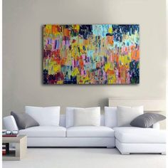 Palette knife Original Large Abstract Modern Art by CampeauFineArt