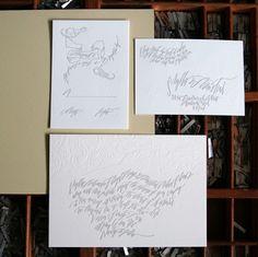 Wedding Ideas: elegant-gray-calligraphy-invitations