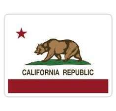 California Republic Flag Stickers