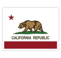 California Republic Flag Stickers