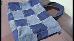Reciclaje de Jeans: Bolso con cuadrados
