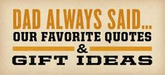 a Latte' with Ott, A: Get dad something from Duluth Trading Co. this Father's Day