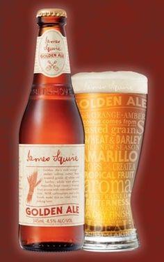 Cerveja James Squire Golden Ale, estilo American Pale Ale, produzida por Malt Shovel Brewery, Austrália. 4.5% ABV de álcool.