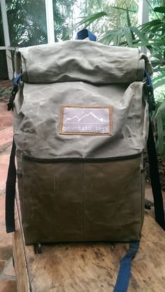 Waxed Canvas Roll Top Ruck Sack by MountainLarkBags on Etsy
